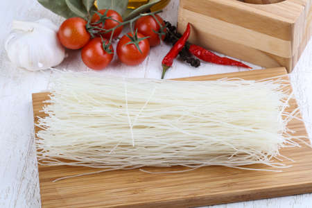 cellophane: Asian Cellophane noodles on the wood background
