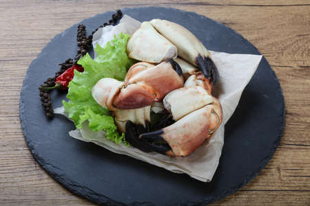 delicacy: Fresh seafood - Crad claws with delicacy meat Stock Photo