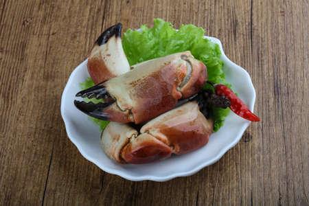 delicadeza: Los mariscos frescos - garras Crad con carne delicadeza