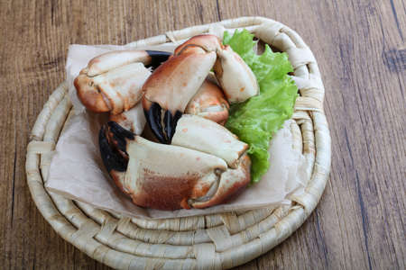 the claws: Fresh seafood - Crad claws with delicacy meat Stock Photo