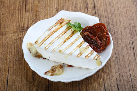 brie: Grilled cheese brie with dry tomato