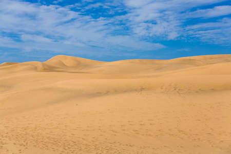 duna: Maspalomas Duna - Desert in Canary island Gran Canaria Stock Photo