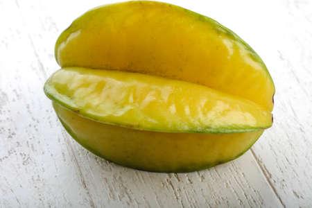 carambola: Exotic fruit Carambola on the wood background Stock Photo