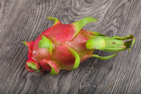 dragonfruit: Dragonfruit - asian fruit on the wood background
