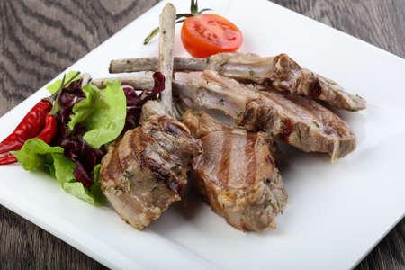 Lamb Frenched Rack grilled rib bone