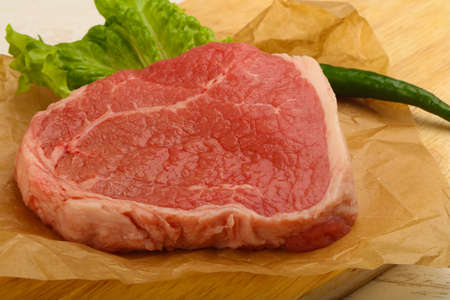 Beef steak raw - ready for cooking Stock Photo