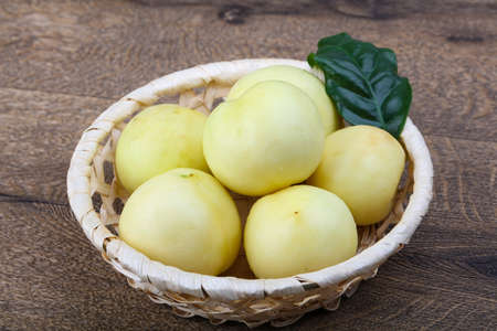 Fresh ripe sweet Nectarines in the bowl