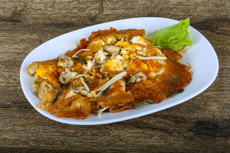 Asian cuisine - Omelet with oysters