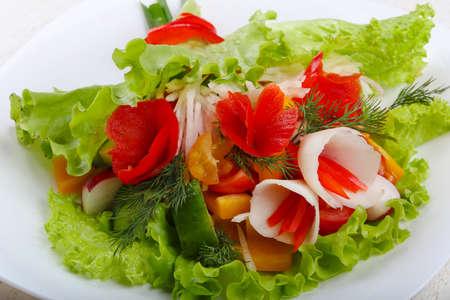 Vegan salad - bouquet of vegetables