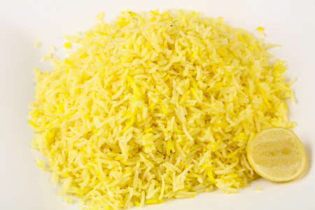 Indian traditional cuisine - Yellow Rice with Lime