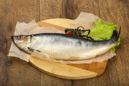 blue fish: Salted Herring fish with pepper and spices