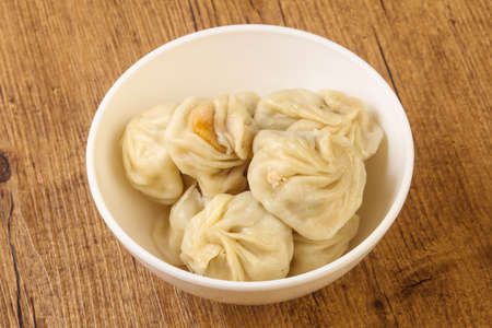 Chinese dumplings - Momo stuffed prawn, chicken, beef or pork