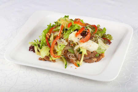 korean salad: Salad with pork and glass noodle