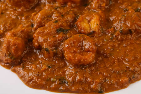 Indian traditional cuisine - Prawn masala spicy