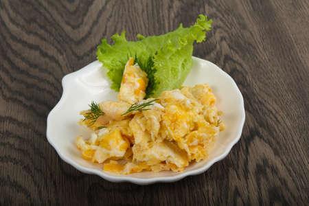 Scrambled eggs Reklamní fotografie