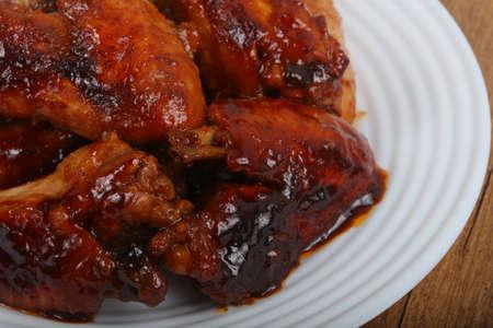 broiled: Chicken wings in teriyaki sauce