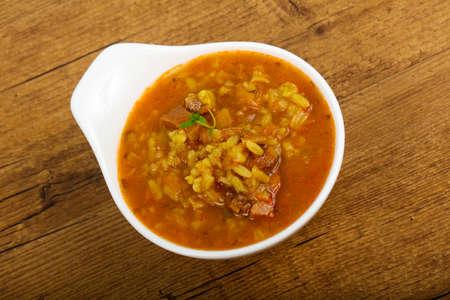spice: Caucasian Kharcho soup Stock Photo