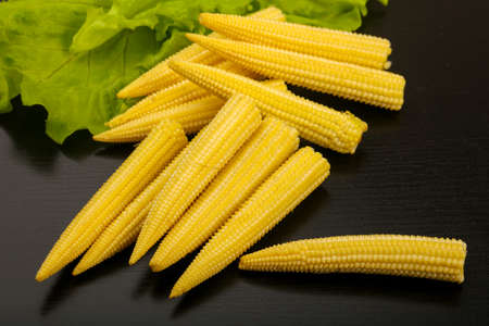 Young raw baby corn