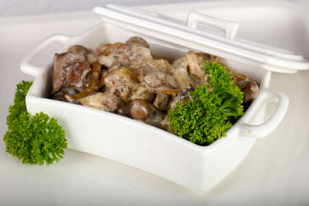 Baked Chicken offals Stock Photo