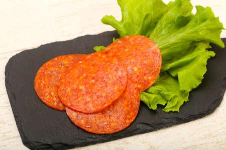 Pepperoni sliced sausage