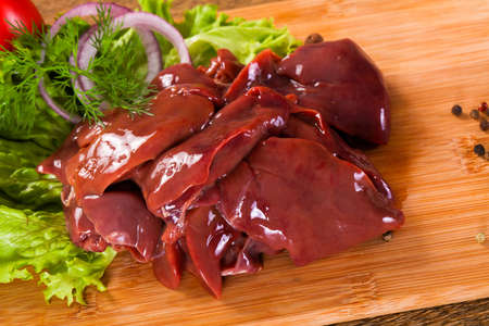 Raw chicken liver for cooking