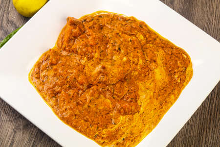 Indian traditional cuisine - Butter chicken with cream