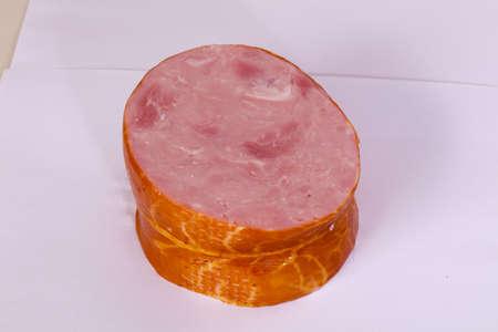 Tasty pork ham isolated Stock Photo