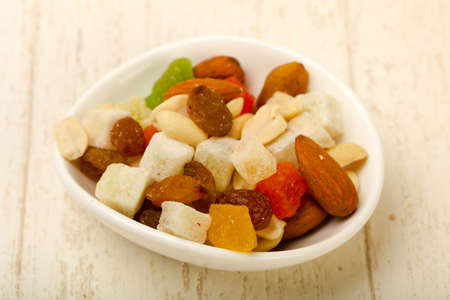 Nut and dry fruit mix 스톡 콘텐츠