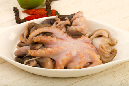 Raw octopus ready for cooking Stock Photo