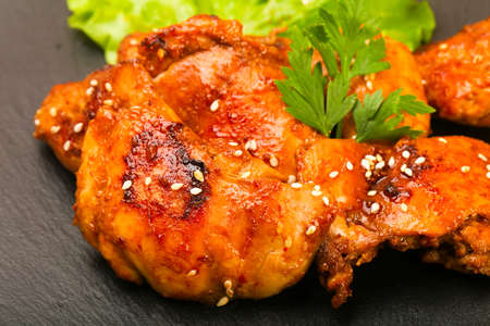 Teriyaki thighs with sesame seeds