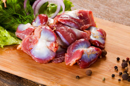 Raw chicken stomach for cooking