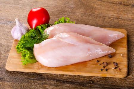 Raw chicken breast fillet 스톡 콘텐츠