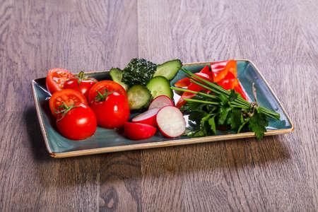 Fresh seasonal vegetables snack