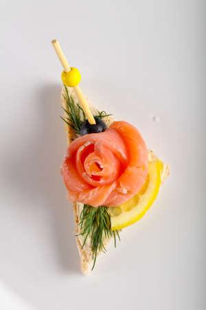 Sandwich with salmon Stockfoto