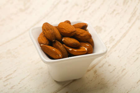 Almond nuts heap