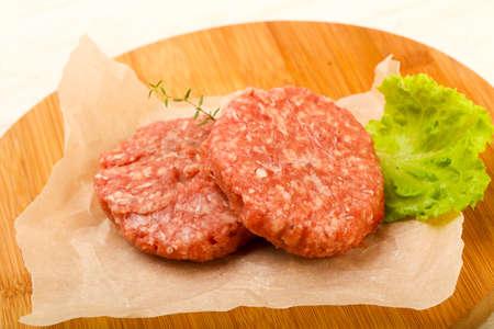 Raw pork cutlet