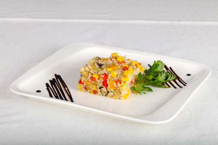 Mexican Rice with vegetables Stock Photo