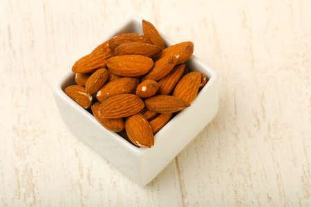 Almond nuts heap