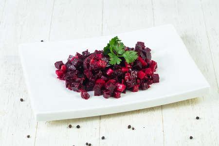 Russian vinaigrette salad with parsley
