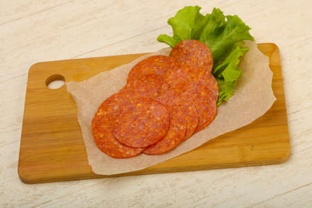 Pepperoni sliced sausage