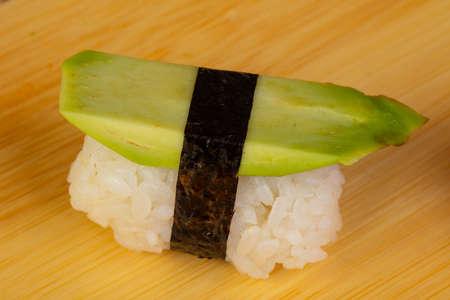 Tasty and fresh avocado sushi  Stok Fotoğraf