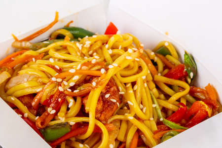 Spicy Egg noodle with chicken