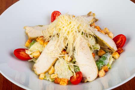 Tasty ceasar salad with chicken