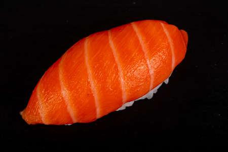 Tasty traditional japanesse salmon sushi