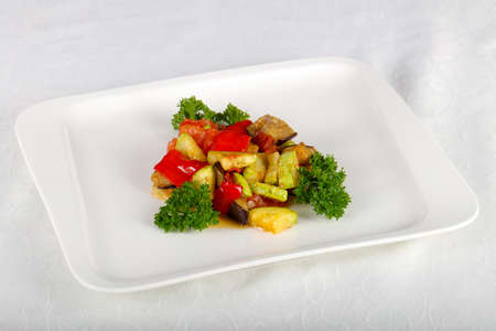 Baked vegetables with herbs