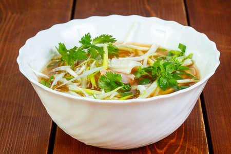 Cold Vietnam chicken soup Bun Ga Banco de Imagens