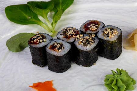 Sushi Unagi maki with eel