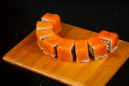 Japanese Philadelphia roll with salmon