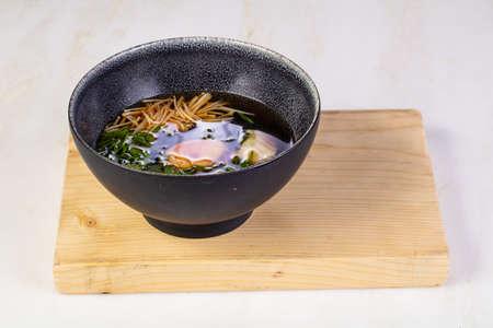 Asian Suimono soup with prawn