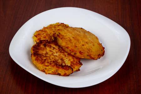 Hot Potato pancake in the plate